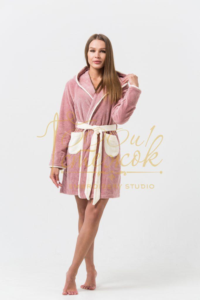 Женский укороченный халат с капюшоном Juliette категории